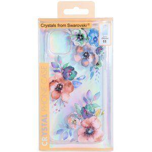 Floral Swarovski Crystals Clear iPhone 11 Case